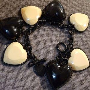 Betsey lucite hearts bracelet